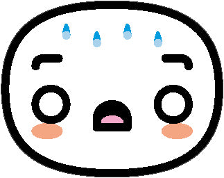 Simple Asian Kawaii Face Emoji Icon #9 Vinyl Decal Sticker