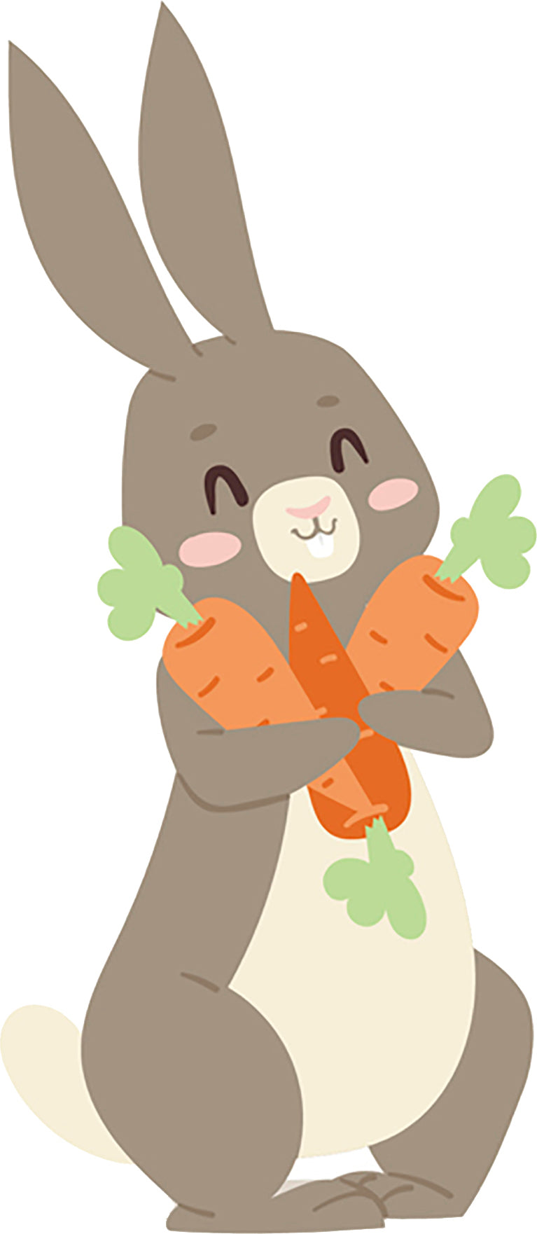 Simple Cute Gray Easter Bunny Rabbit Cartoon #8 Vinyl ...