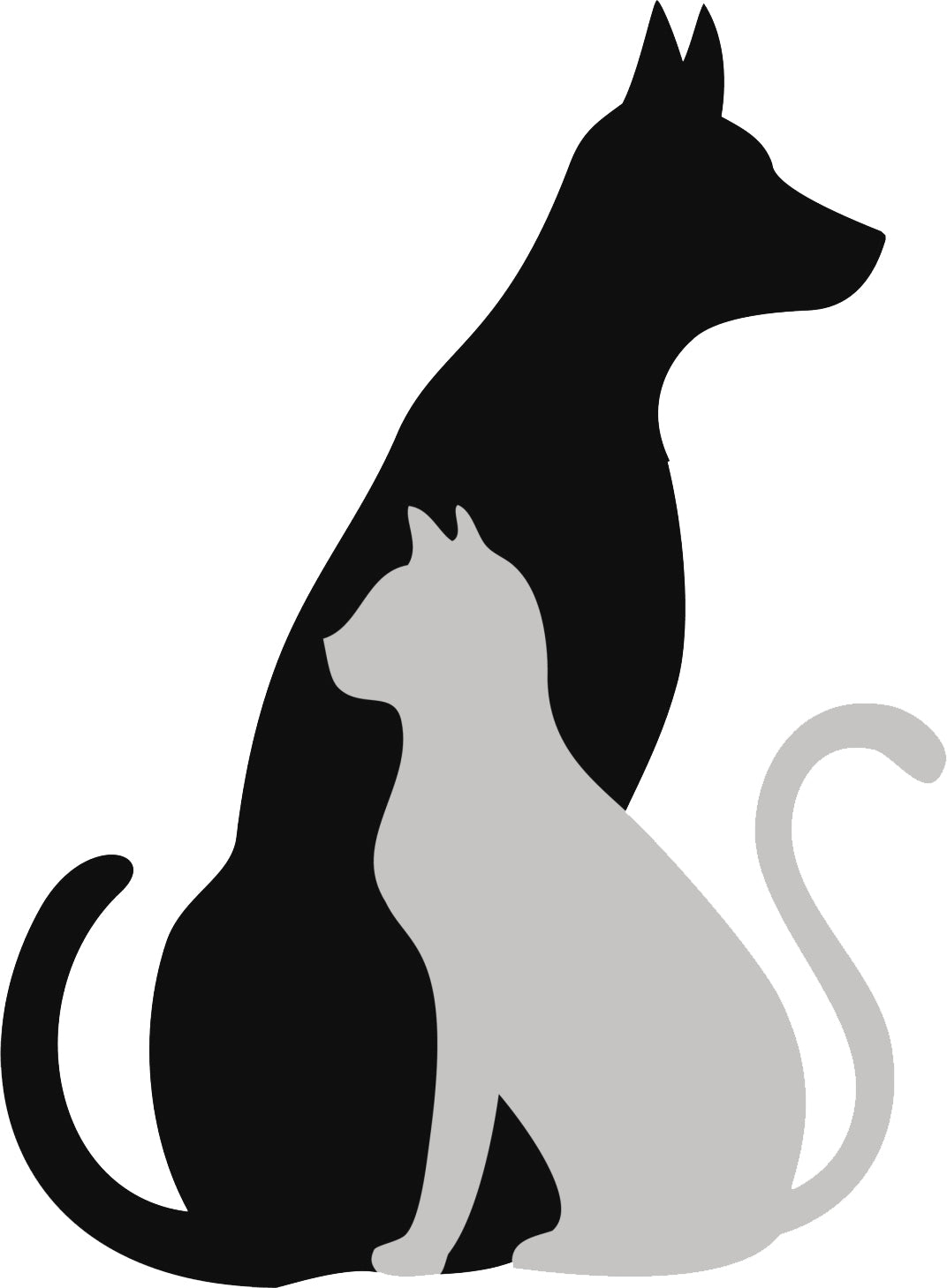 Simple Dog and Cat Silhouette Cartoon Icon for Pet Lovers #1 Vinyl Decal Sticker