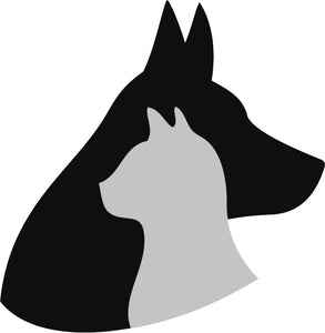 Simple Dog and Cat Silhouette Cartoon Icon for Pet Lovers #2 Vinyl Decal Sticker