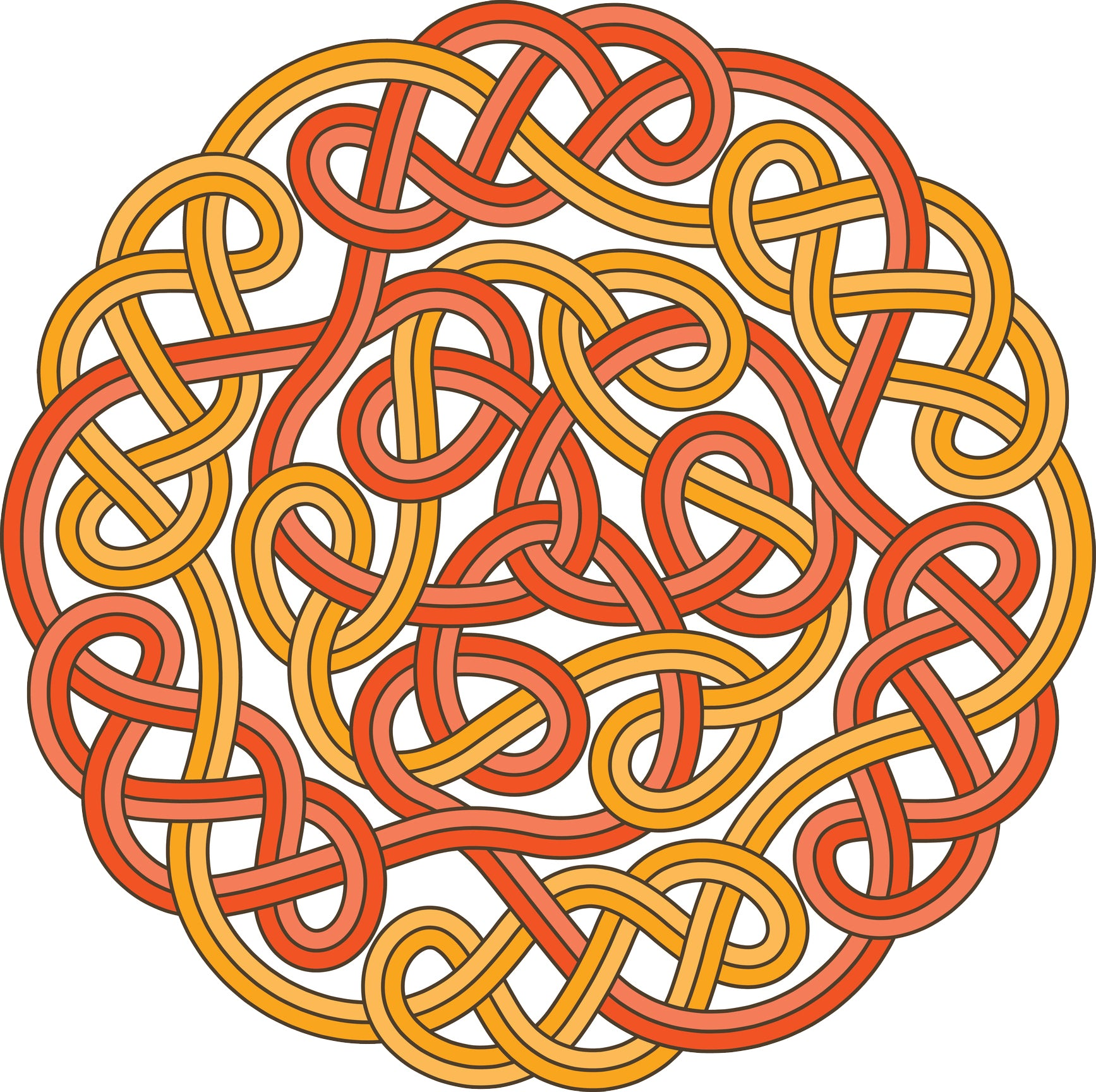Simple Red Yellow Celtic Knot Cross Icon Vinyl Decal Sticker