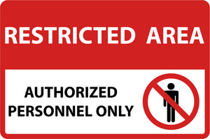 Simple Restricted Area Authorized Personnel Only Sign Symbol Icon Vinyl Decal Sticker