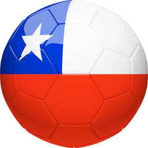 Simple Soccer Futbol Sport Ball with Team Country Flag Pattern - Chile Vinyl Decal Sticker