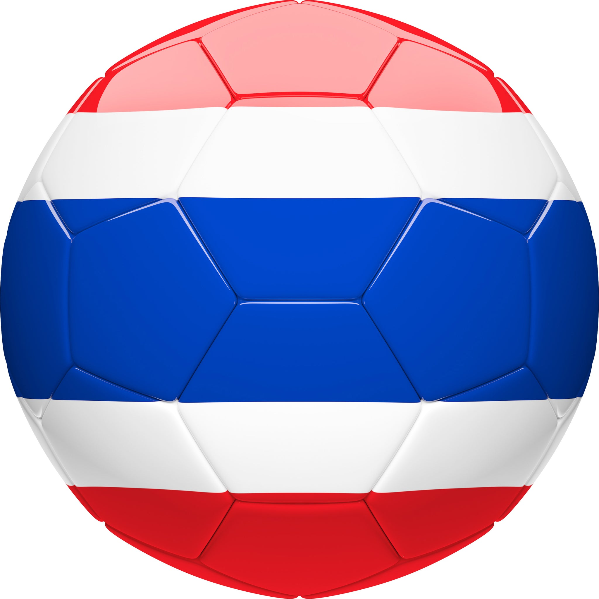 Simple Soccer Futbol Sport Ball with Team Country Flag Pattern - Thailand Vinyl Decal Sticker