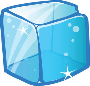 Simple Sparkly Frozen Ice Cube Cartoon Icon - Cube #1 Vinyl Decal Sticker