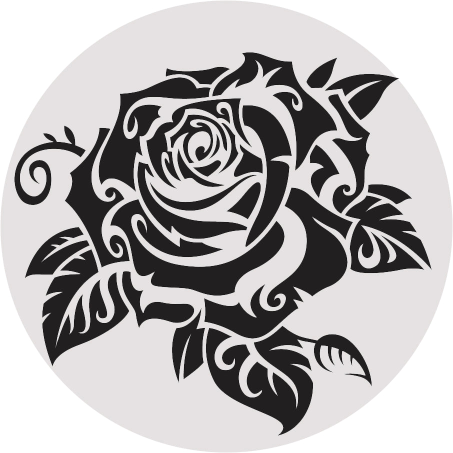 Simple Tattoo Style Rose Flower Cartoon Icon #4 Vinyl Decal Sticker