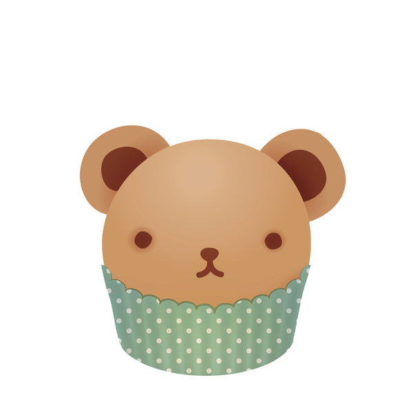 Sweet Cake Teddy Bear Cucpcake Vinyl Decal Sticker