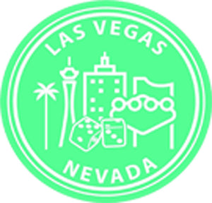 US Cityscapes Solid Famous Landmarks America Travel Cartoon - Las Vegas Vinyl Decal Sticker