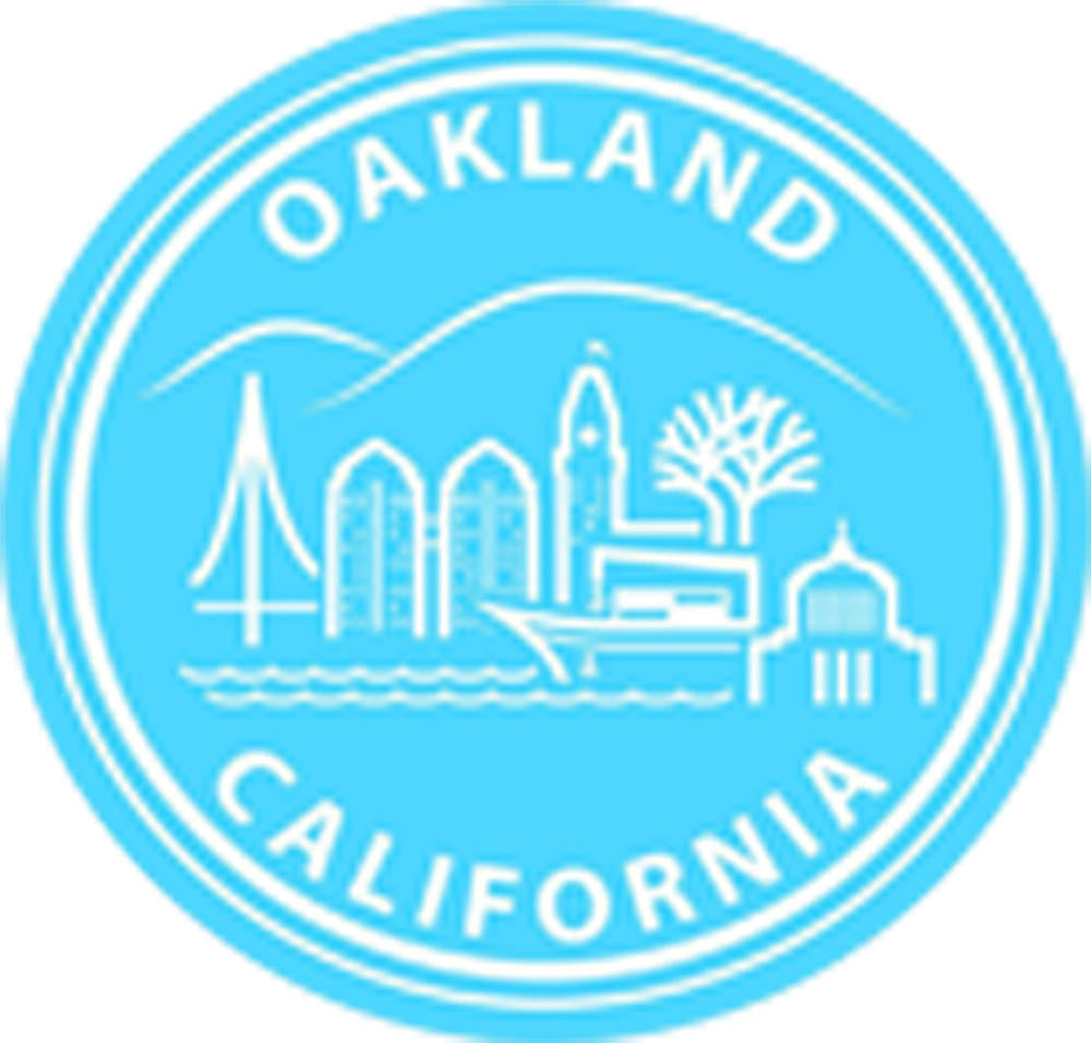US Cityscapes Solid Famous Landmarks America Travel Cartoon - Oakland Vinyl Decal Sticker