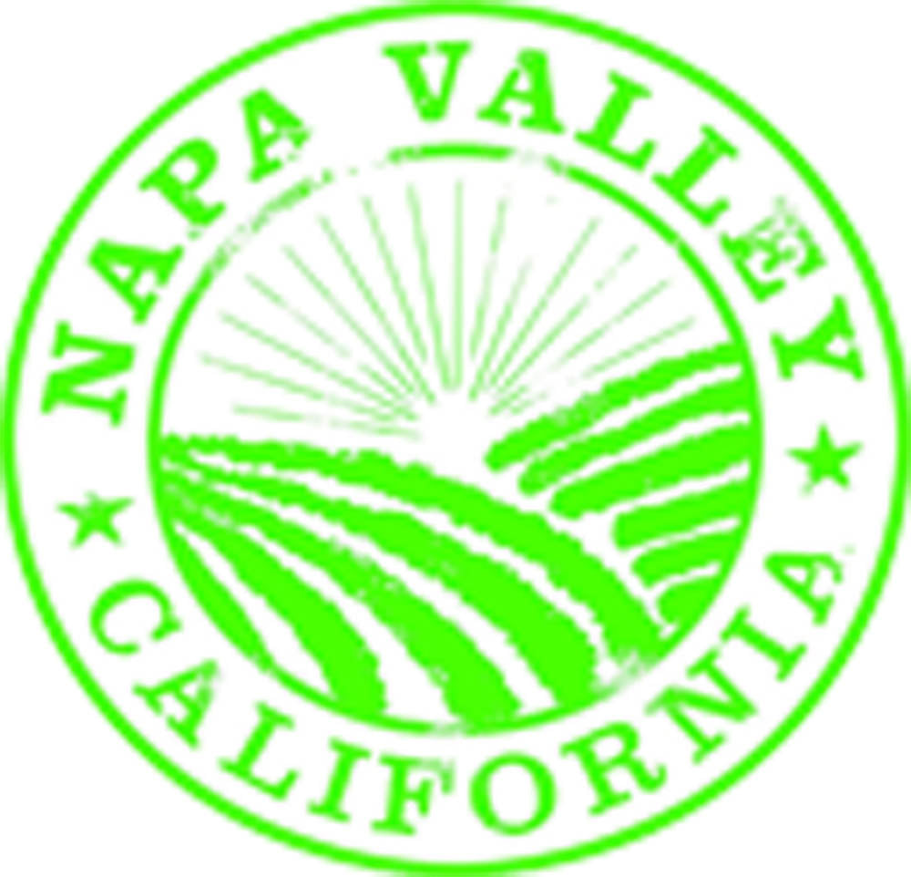 Vintage California City Tourist Souvenir Stamp Logo Cartoon Art - Napa Valley Fields Vinyl Decal Sticker