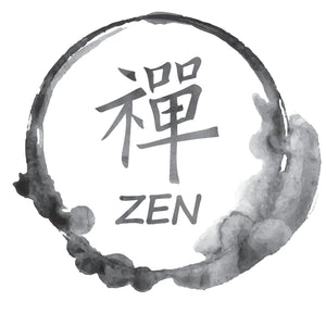 Watercolor Japanese Zen Icon Vinyl Decal Sticker