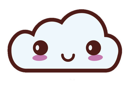 Weather Climate Emoji - Blushing Cloud Vinyl Decal Sticker