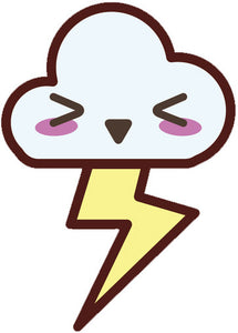 Weather Climate Emoji - Thunder Cloud Vinyl Decal Sticker