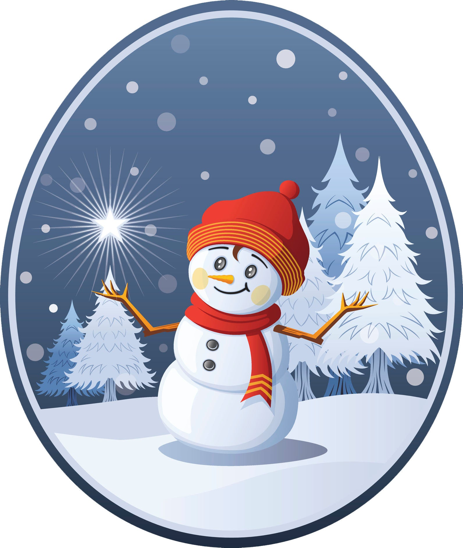 Winter Wonderland with Frosty the Snowman Vinyl Decal Sticker