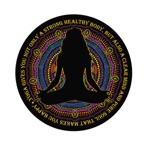 Yoga Yogi Girl Silhouette Mantra and Mandala Flower Icon #1 Vinyl Decal Sticker