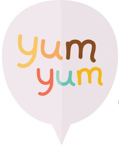 Yum Yum Caption Bubble Vinyl Decal Sticker
