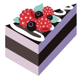 Yummy Cake with Berries and Frosting Vinyl Decal Sticker