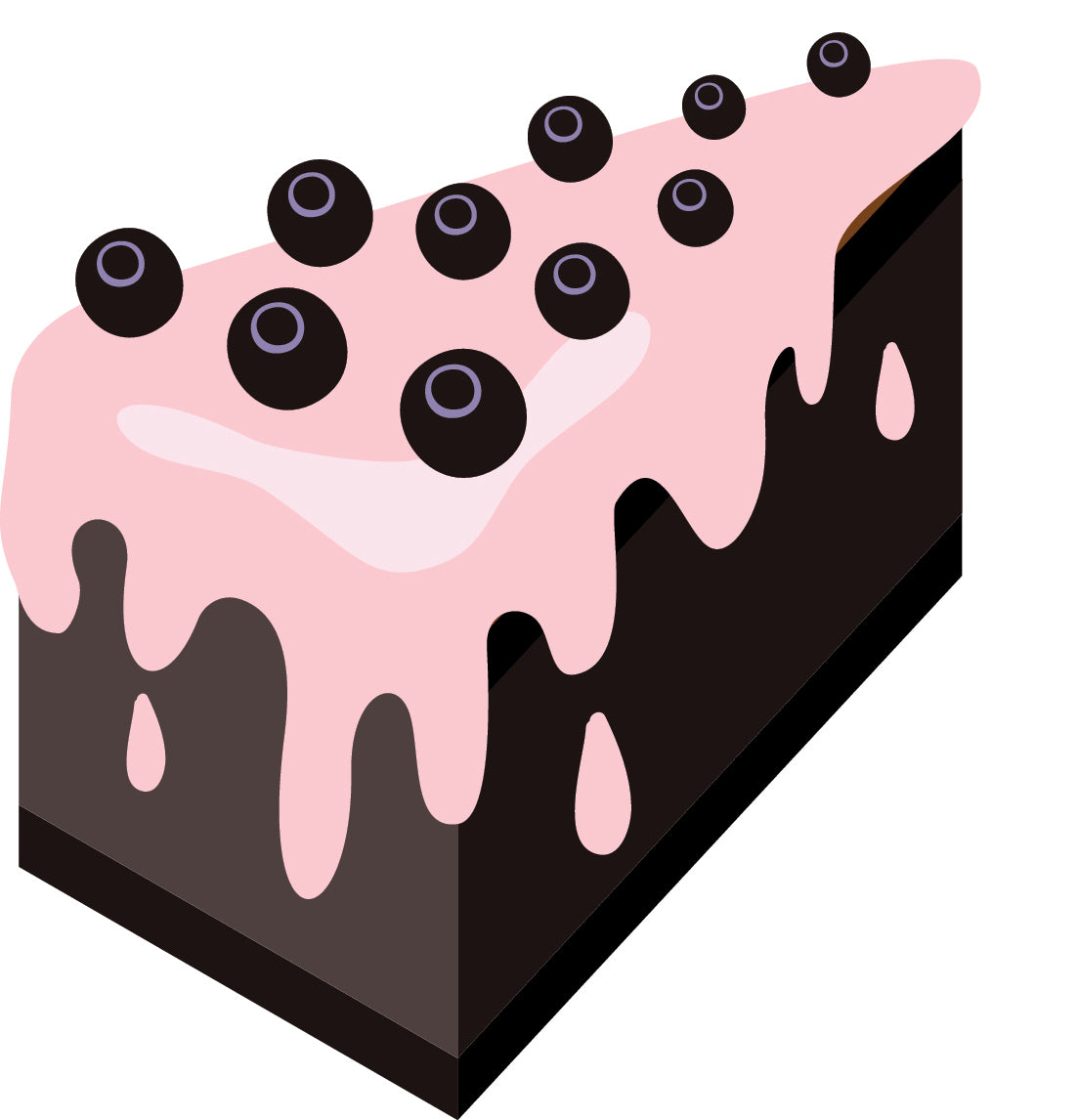 Yummy Chocolate Cake with Strawberry Frosting Vinyl Decal Sticker