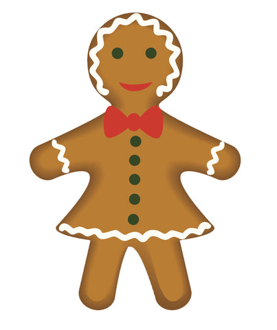 Yummy Holiday Ginger Bread Cookies Woman Vinyl Decal Sticker
