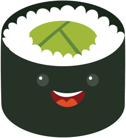 Yummy Japanese Sushi Sashimi Emoji (1) Vinyl Decal Sticker