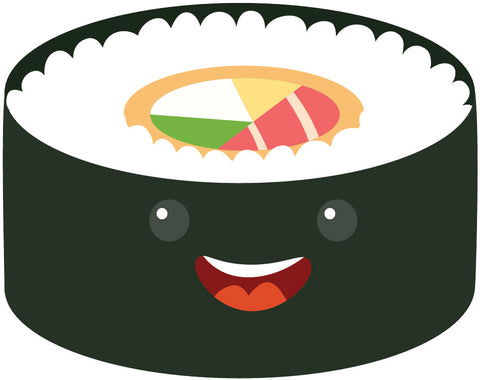 Yummy Japanese Sushi Sashimi Emoji (2) Vinyl Decal Sticker