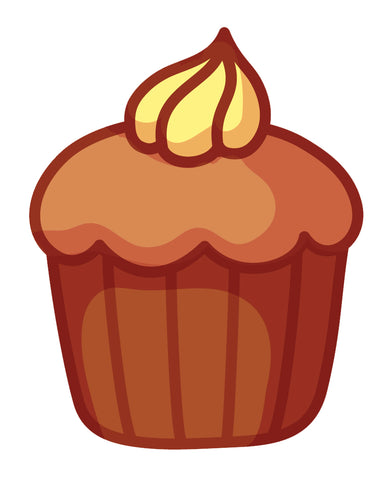 Yummy Pretty Cupcake Cartoon Emoji Icon (1) Vinyl Decal Sticker