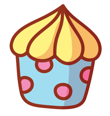 Yummy Pretty Cupcake Cartoon Emoji Icon (5) Vinyl Decal Sticker