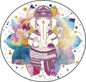Beautiful Watercolor Ombre Of Hindu God Ganesha Illustration #2 - Pastel Tones Vinyl Sticker (Border Included Around Image As Shown) Vinyl Decal Sticker