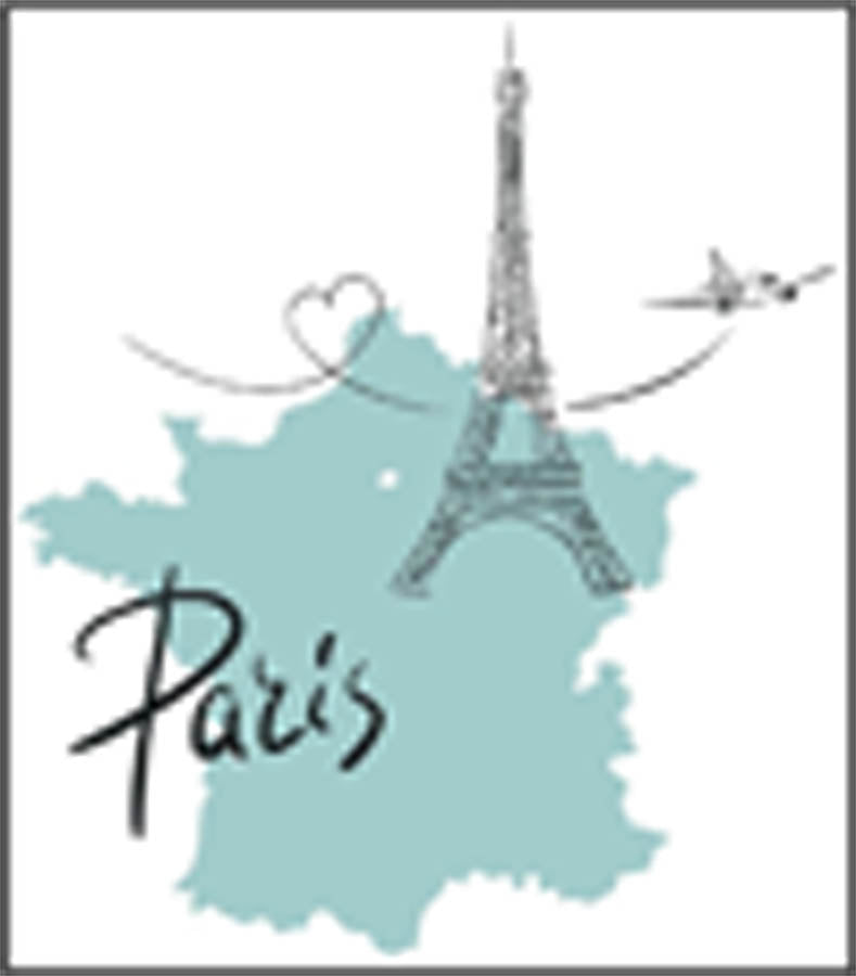 Cute Paris France Eiffel Tower Cartoon Icon Border Around Image As Sho Shinobi Stickers