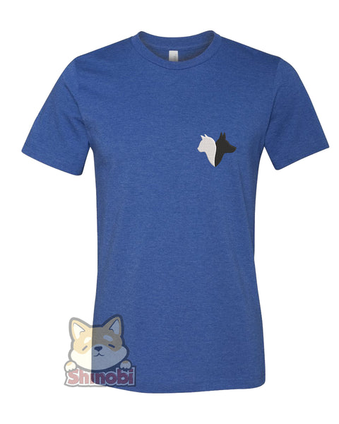 Small & Extra-Small Size Unisex Short-Sleeve T-Shirt with Simple Dog and Cat Silhouette Cartoon Icon for Pet Lovers #3 Embroidery Sketch Design