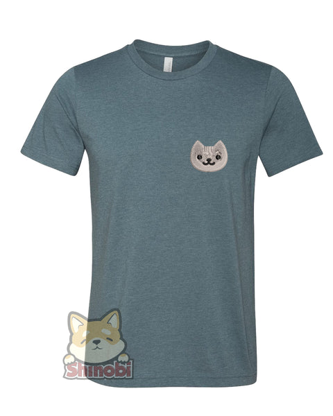 Medium & Large Size Unisex Short-Sleeve T-Shirt with Dumpling Embroidery Sketch Design