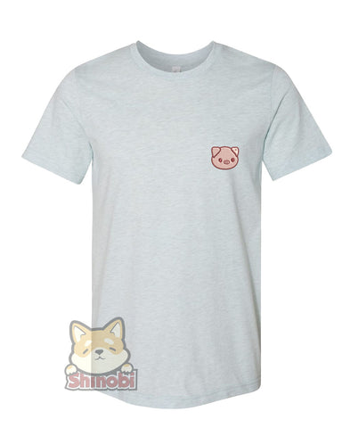 Medium & Large Size Unisex Short-Sleeve T-Shirt with Cute Baby Country Animal - Piggie Piglet Embroidery Sketch Design