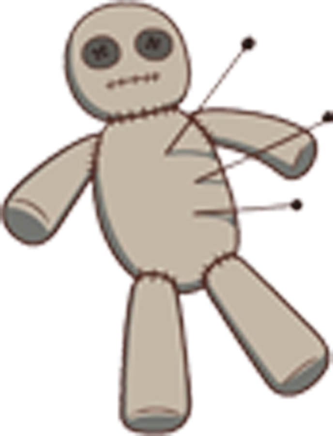 Creepy Voodoo Doll Cartoon Vinyl Decal Sticker