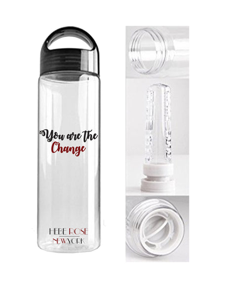 You are the Change - Reusable Fruit Infuser Water Bottle