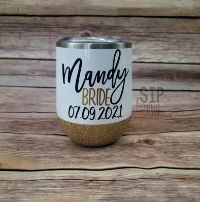 Bride Stainless Steel Wine Glass