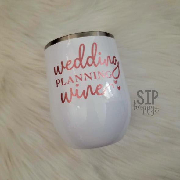 Wedding Planning Wine Stainless Steel Wine Glass