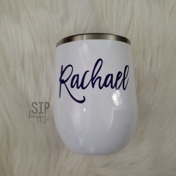 Personalized Stainless Steel Wine Glass