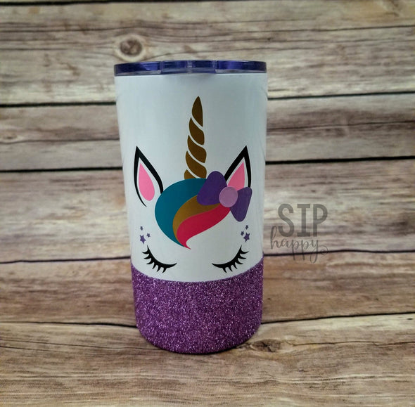 Unicorn Face Kid's Stainless Steel Tumbler