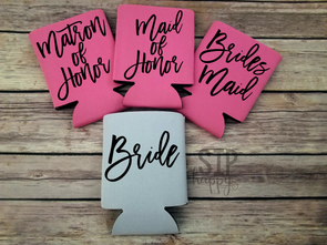 Bridal Party Can Cooler
