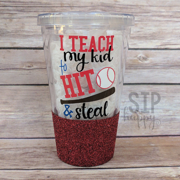 Ready To Ship Hit & Steal Glitter Tumbler - Red