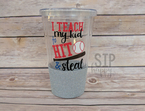 Ready To Ship Hit & Steal Glitter Tumbler - Silver