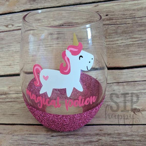 Magical Potion Unicorn Wine Glass