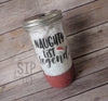 Ready To Ship Naughty List Legend Glitter Mason Jar Tumbler