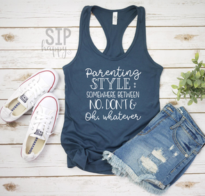 Parenting Style Racerback Tank