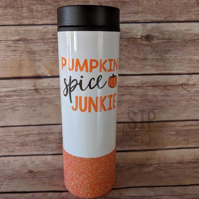 Pumpkin Spice Junkie Travel Coffee Mug