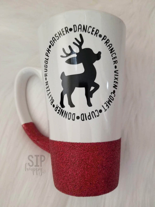 Reindeer Names Coffee Mug