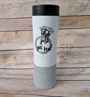 Shit Just Got Real Travel Coffee Mug