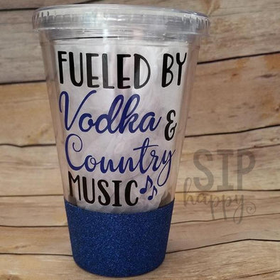 Fueled By Vodka & Country Music Tumbler