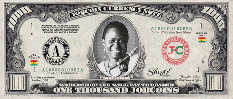 Kiva Borrower: Collect the Cynthia_from_Ghana 1,000 JobCoin Note