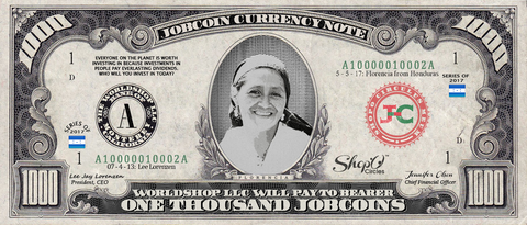 Kiva Borrower: Collect the Florencia_from_Honduras 1,000 JobCoin Note
